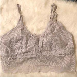 Flirtitude light gray lace bralette